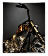 Jesse James Bike 2 Detroit Mi Fleece Blanket