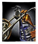 Jesse James Bike Detroit Mi Fleece Blanket