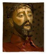 Jesus Christ San Xavier Del Bac Fleece Blanket