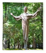 Jesus Statue Fleece Blanket