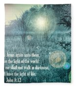 Jesus The Light Of The World Fleece Blanket