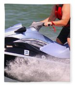 Jet Ski Speed Fleece Blanket