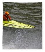 Jetboat In A Race At Grants Pass Boatnik Fleece Blanket