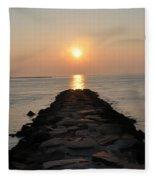 Jetty Sunrise Fleece Blanket