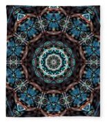 Jeweled Turquoise Fleece Blanket