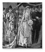 Jewish Wedding, C1892 Fleece Blanket