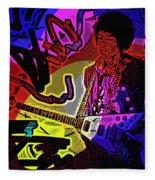 Jimi Hendrix Number 22 Fleece Blanket