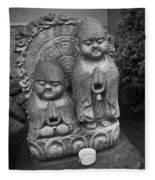 Jizo Bodhisattva Deities- Daitoku-ji Temple Japan Fleece Blanket