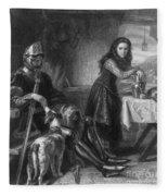 Joan Of Arc, French National Heroine Fleece Blanket