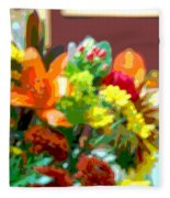 Joannes Flowers Fleece Blanket