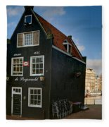 Jodenbreestraat 1. Amsterdam Fleece Blanket