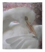 Joelle's Egret Fleece Blanket