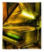 John Broadwood And Sons Grand Piano Fleece Blanket