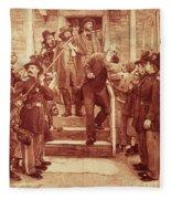 John Brown: Execution Fleece Blanket