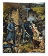 John Brown On 30 August 1856 Intercepting A Body Of Pro-slavery Men Fleece Blanket