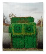 John Deer Made Of Hay Fleece Blanket