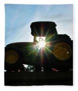 John Deere In The Morning Sun Fleece Blanket