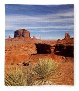 John Ford Point Monument Valley Fleece Blanket