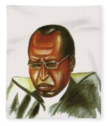 John Gatu Fleece Blanket