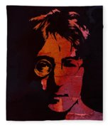 John Lennon Watercolor Fleece Blanket