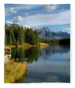 Johnson Lake Fleece Blanket