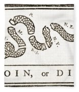 Join Or Die French And Indian War Fleece Blanket