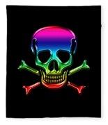 Jolly Roger Rainbow Fleece Blanket
