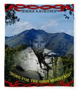 Jorma- Song For The High Mountain Fleece Blanket