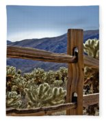 Joshua Tree Cholla Garden Fleece Blanket