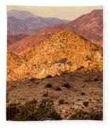 Joshua Tree Sunrise Panorama Fleece Blanket