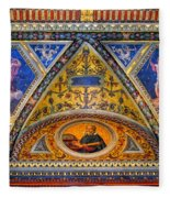 Jp Morgan Library Ceiling Detail Fleece Blanket
