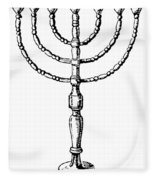 Judaism: Menorah Fleece Blanket