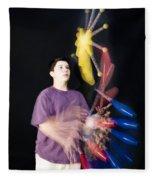 Juggling Pins Fleece Blanket