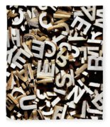 Jumbled Letters Fleece Blanket
