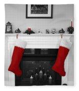 Jumbo Red Stockings Fleece Blanket