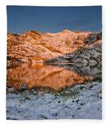 June Snowfall At Angel Lake Fleece Blanket