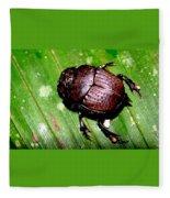 Jungle Beetle Fleece Blanket