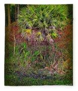 Jungle Palm Fleece Blanket