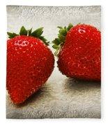 Just 2 Classic Berries Fleece Blanket