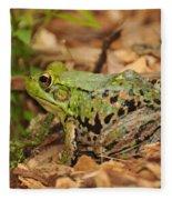 Just A Frog Fleece Blanket