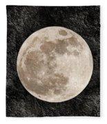 Just A Little Ole Super Moon Fleece Blanket