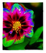 Just Another Regular Flower In The Garden Fleece Blanket