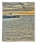 Just Sailing By Grunge Fleece Blanket