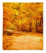 Just Start Walking Fleece Blanket