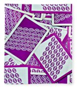 K And B Playing Cards New Orleans Fleece Blanket