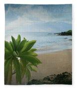 Ka Makani Olu Olu  -  Polo Beach Maui Hawaii Fleece Blanket