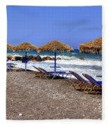 Kamari - Santorini Fleece Blanket