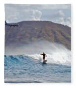 Kaneohe Bay Sufer Mcbh Fleece Blanket
