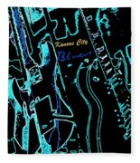 Kansas City Blues Fleece Blanket