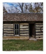 Kansas Log Cabin Fleece Blanket